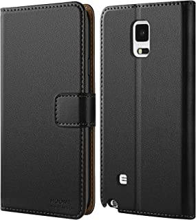 HOOMIL Case Compatible with Samsung Galaxy Note 4, Premium Leather Flip Wallet Phone Case for Samsung Galaxy Note 4 Cover - Black