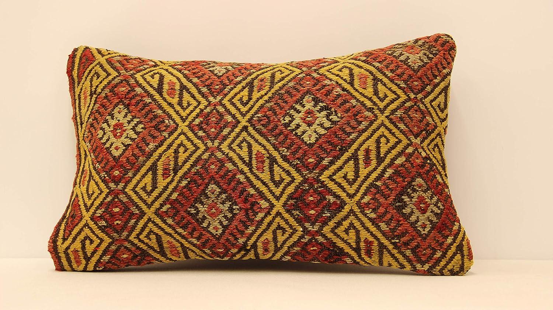 Handmade Lumbar Kilim Ranking TOP2 Pillow 12x20inch Boho Pil Throw 30x50 Topics on TV cm