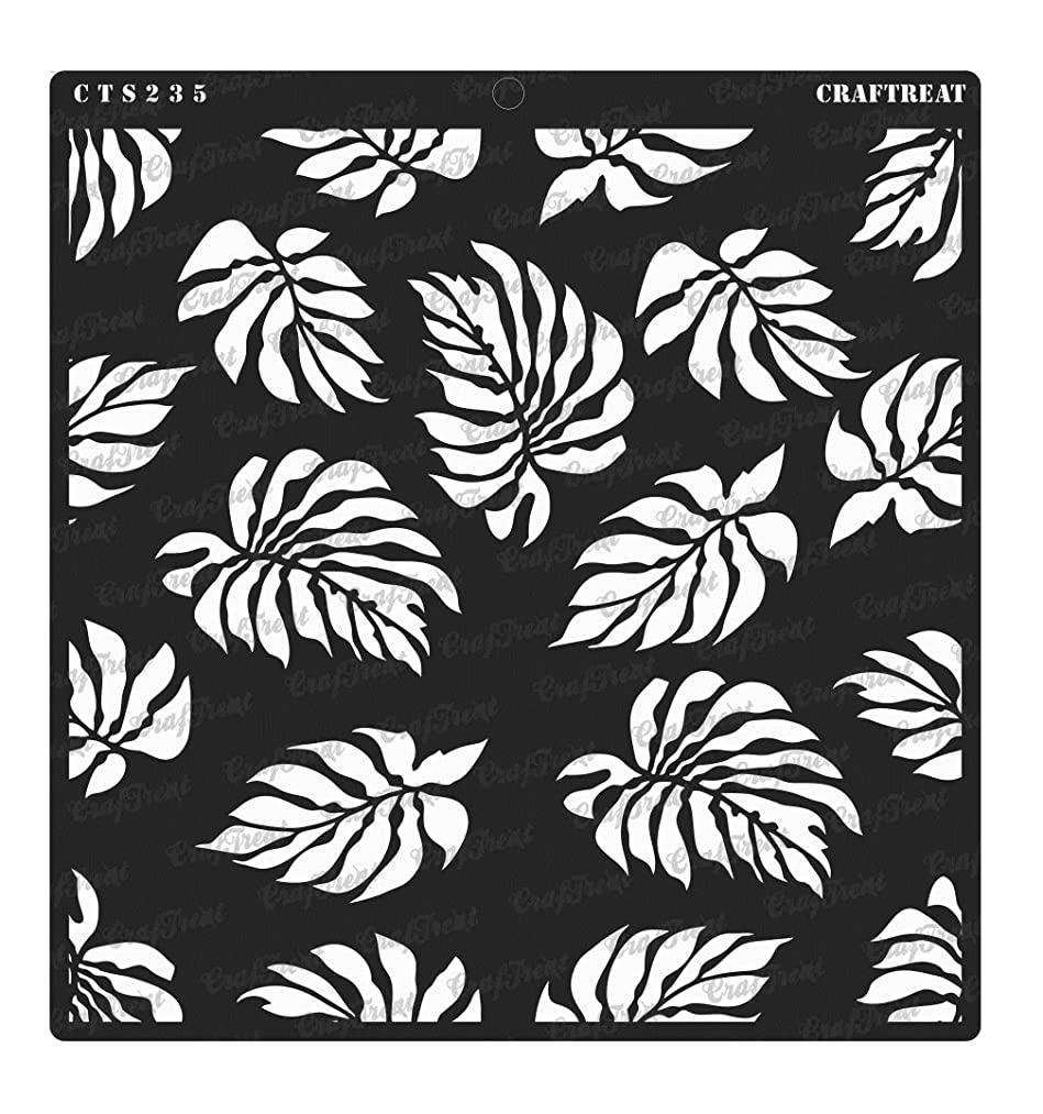 CrafTreat Stencil - Tropical Leaves | Reusable Painting Template for Home Decor, Crafting, DIY Albums, Scrapbook, Decoration and Printing on Paper, Floor, Wall, Tile, Fabric, Wood 12