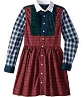 Polo Ralph Lauren Kids - Tartan Cotton Shirtdress (Big Kids)
