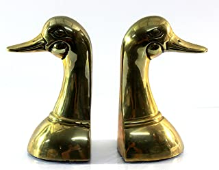 Solid Brass Bookends Duck Head bust