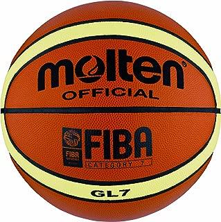 MOLTEN Top Grain Fiba - Balón de Baloncesto (Piel) Naranja Naranja ...