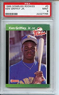 1989 Donruss Rookies #3 Ken Griffey Jr. PSA 9
