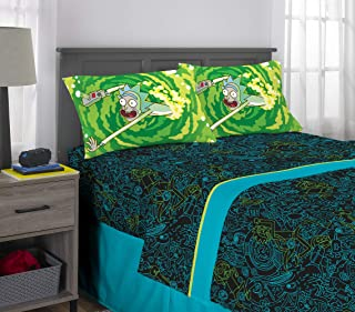 Franco Kids Bedding Super Soft Sheet Set, 4 Piece Full Size, Rick and Morty