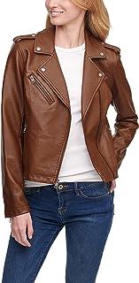 Levi's Women's Faux Leather Classic Asymmetrical Motorcycle Jacket (Standard & Plus Sizes)