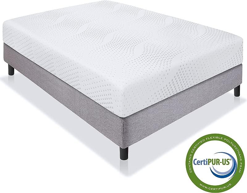 Best Choice Products 10 Dual Layered Memory Foam Mattress Queen CertiPUR US Certified Foam