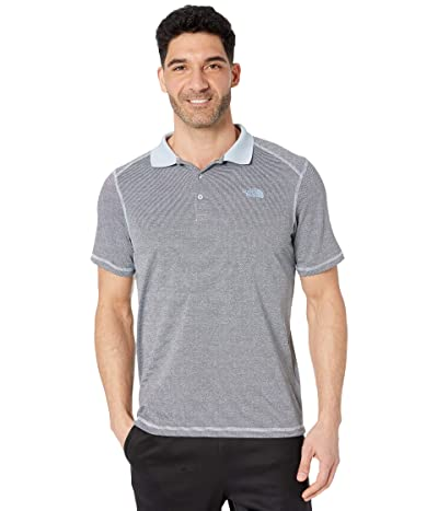 The North Face Short Sleeve Horizon Polo (Faded Blue Stripe) Men
