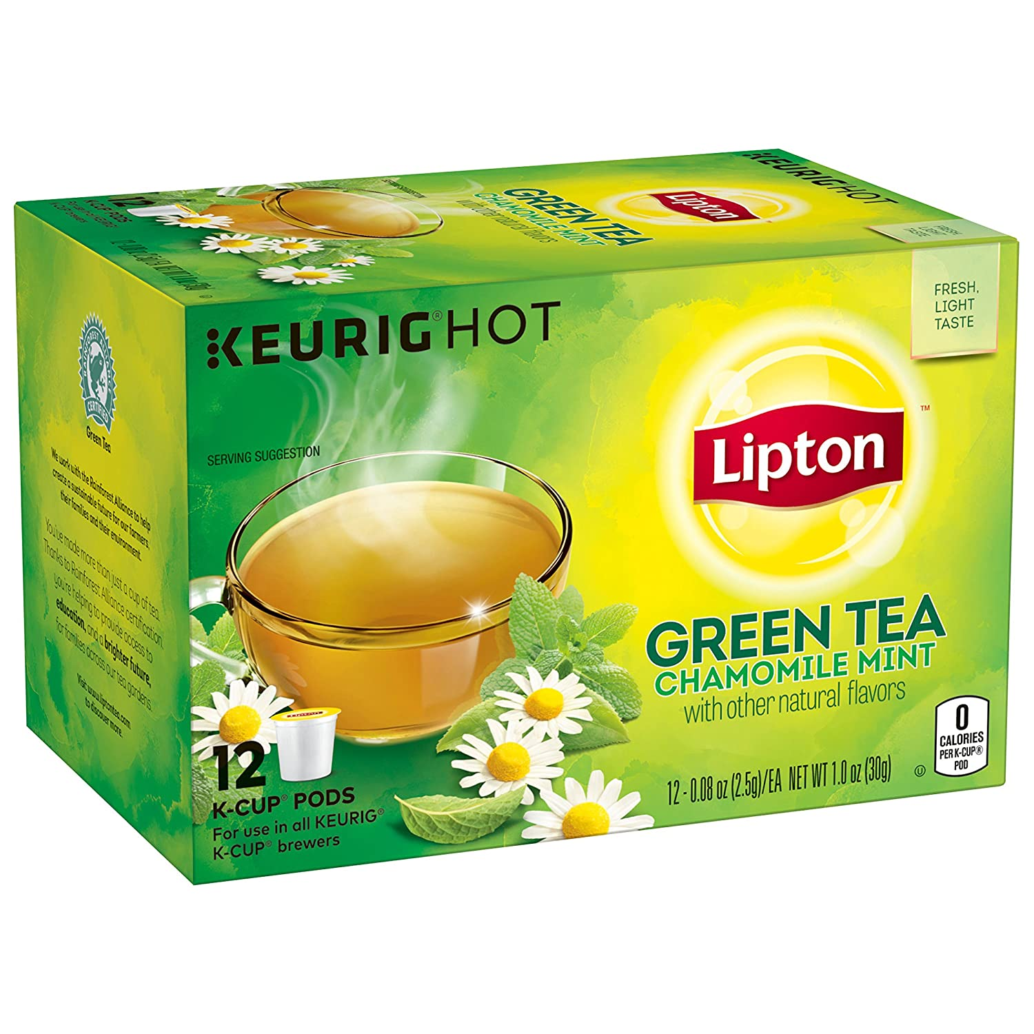 Lipton Green Reservation Tea K-Cups 12 Mint Max 60% OFF ct Chamomile