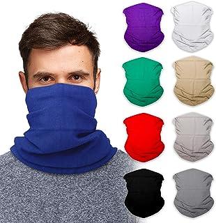 SoJourner 9 pañuelos sin costuras, máscara facial, diadema, bufanda, calentador de cuello y más, multifuncional 12 en 1, p...