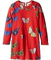 mini rodini - Butterflies Collar Dress (Infant/Toddler/Little Kids/Big Kids)