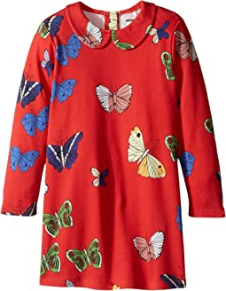 mini rodini - Butterflies Collar Dress (Infant/Toddler/Little Kids/Big Kids)