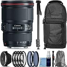 $999 » Canon EF 16-35mm f/4L is USM Lens + Sling Backpack + Monopod + 3 Piece Pro Filter Kit + 4 Piece Close-Up Lens Set + Lens Pen + Lens Cleaning Kit Pro Travel Bundle