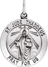 Sterling Silver 22 mm St. Jude Thaddeus Medal
