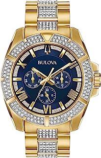 Bulova Men's Swarovski Crystal Quartz Watch with Two-Tone-Stainless-Steel Strap, 22 (Model: 98C128)