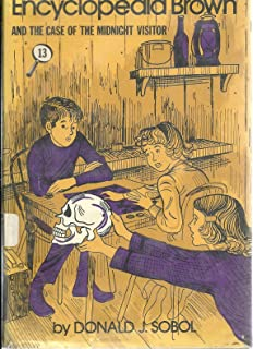 Encyclopedia Brown and the Case of the Midnight Visitor - 13 - Hardcover, Weekly Reader Books Edition 1977 (AND The Case of the Hidden Penny, Case of the Red Sweater, Case of the Painting Gerbils, Case of the Time Capsuel and 5 more stories)