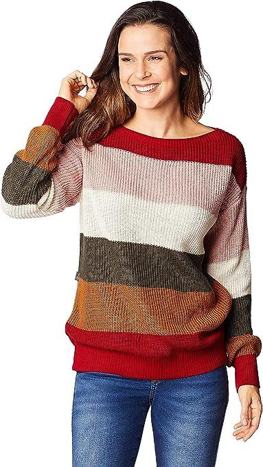 Blusa Tricot S30 Multicolor, Vermelho Esc, U