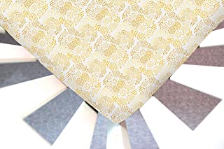 Little Moose by Liza Handmade Toddler Minky Blanket (42x52) Geo Mist Gold (Abstract)