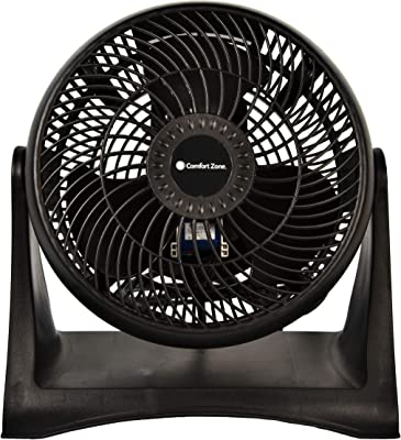 Comfort Zone CZHV8T 3-Speed Wall-Mountable 8-inch High-Velocity Fan with Plastic Blades and 180-Degree Adjustable Tilt