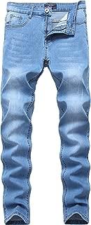 Men's Skinny Jeans Stretch Slim Straight Fit Fashion Basic Denim Pants