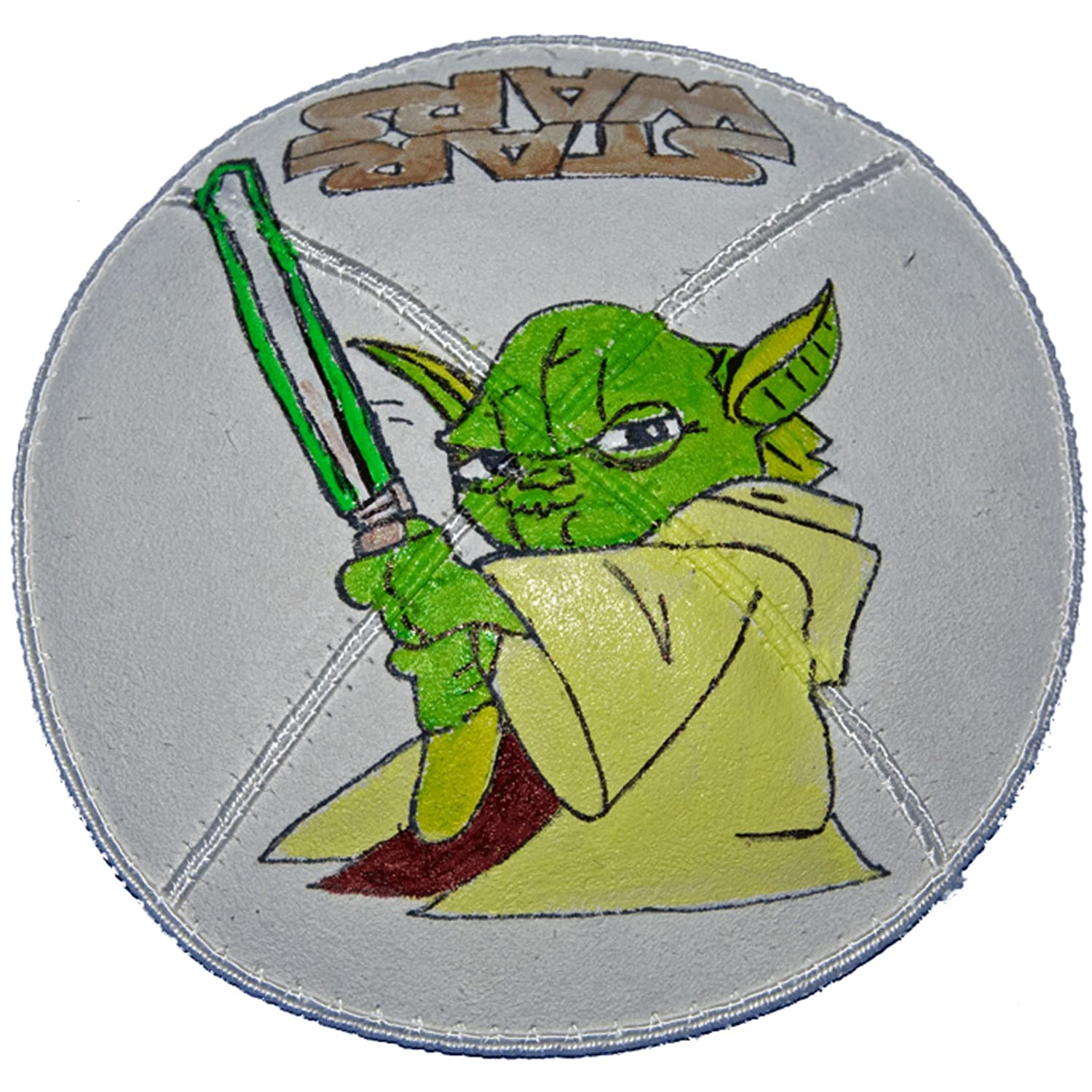 Hand-painted 67% OFF of fixed price Kippah Department store Yarmulke with Yoda
