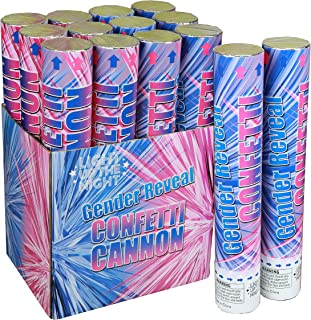 Gender Reveal Confetti Cannon It's A Girl - 6 Pack Pink