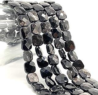 [ABCgems] Quebec Black Aura Hypersthene AKA Magical Stone (Gorgeous Flash- Mohs Hardness 6) 8mm Micro-Faceted Diamond-Cut ...