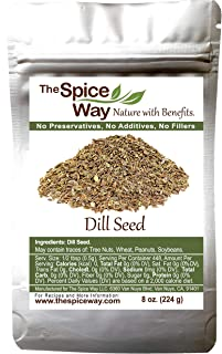 The Spice Way Dill Seed - great seeds for pickling, vegetables, pasta, salads and soups. 8 oz