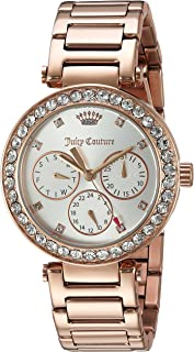 Juicy Couture Women's 'CALI' Quartz Stainless Steel Casual Watch, Color:Rose Gold-Toned (Model: 1901505)