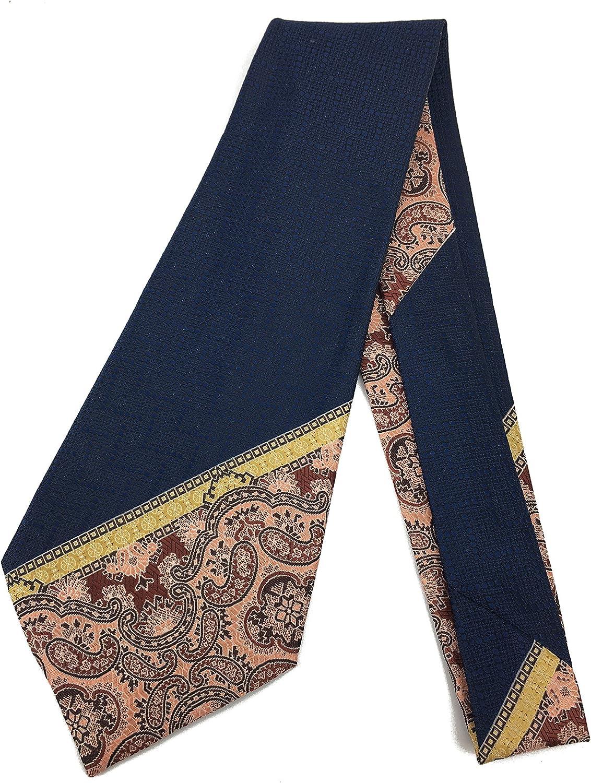 Pink Paisley Vintage Tie - Jacquard Weave Wide Kipper Necktie Blue