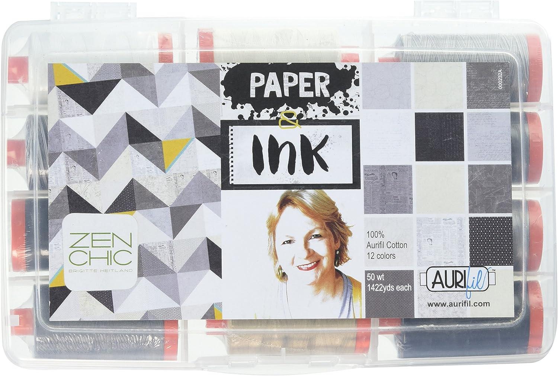 Aurifil Thread Set sold out Paper Ink Cotton 50wt by Brigitte Regular dealer Heitland