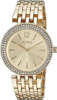 XOXO Women's XO264 Analog Display Analog Quartz Gold Watch