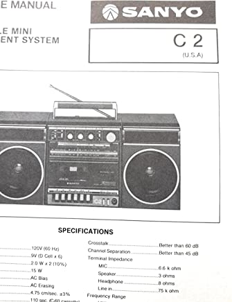 service manual for sanyo c2 portable mini component system