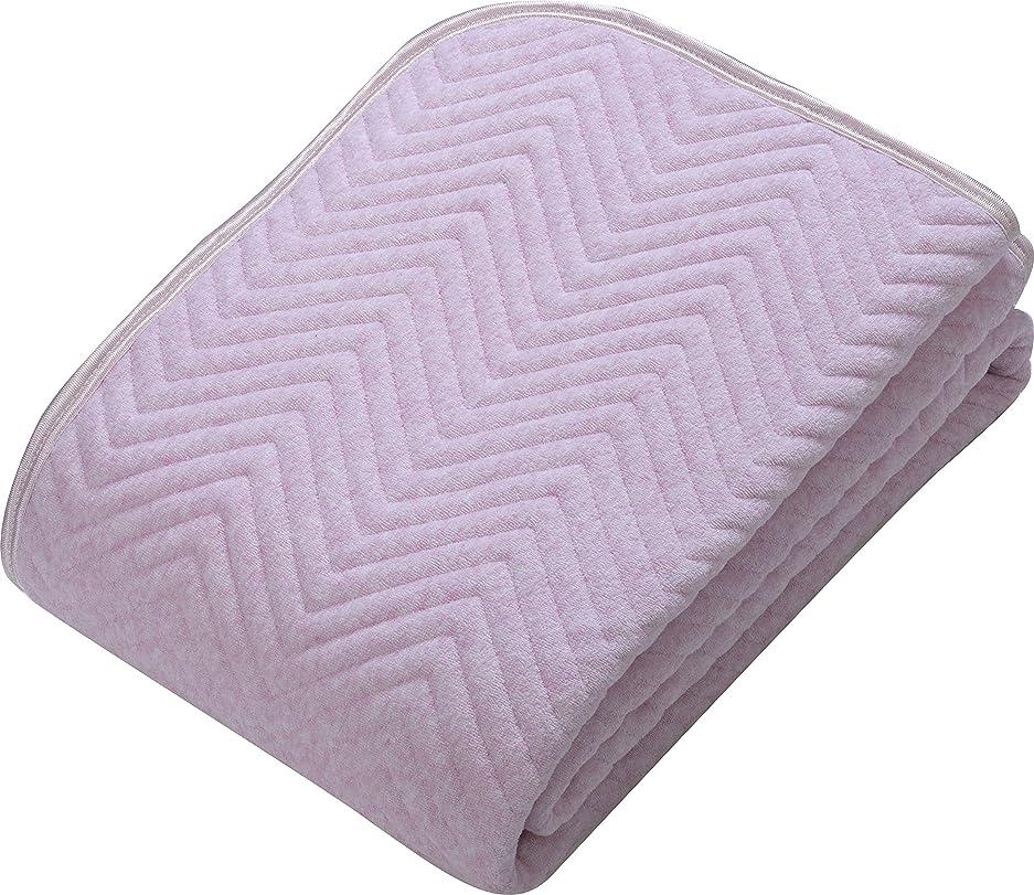 発行ためにそっと西川(Nishikawa) ベットパッド?敷きパッド ピンク セミダブル 敷きパッド 綿100% 洗える 中わたたっぷりしっかりタイプ 5SP6600 SD