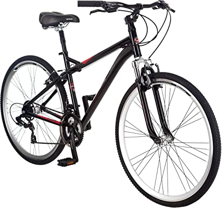 Schwinn Siro Hybrid - Bicicleta para hombre (ruedas 700c, tamaño mediano), color negro