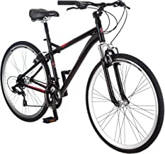 Schwinn Siro Comfort Hybrid Bikes, Lightweight Aluminum Frame, Front Suspension Fork, Padded Seat, 21-Speed Shimano Drivetrain, and 700c Wheels, Great for Bike Paths, Trails, or the Neighborhood