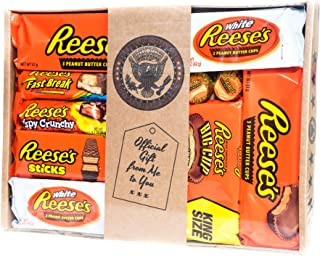 Holland Plastics Original Brand Authentic American Assorted Hamper - All Your Favourite Pieces of Reeses, Gift Packaged.