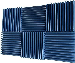 Foamily 6 Pack - All Ice Blue Acoustic Panels Studio Foam Wedges 2