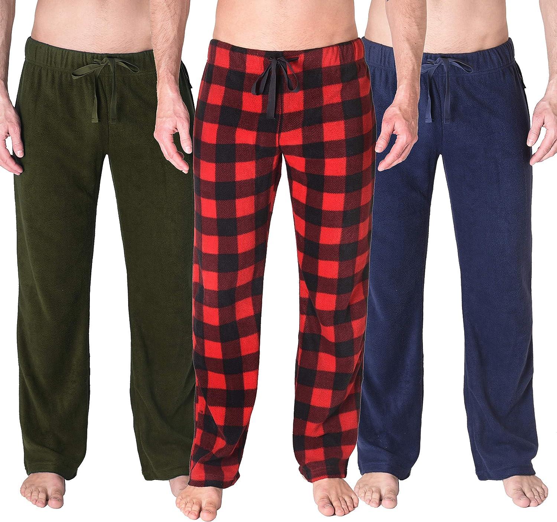 Fruit of the Loom Mens Pajama Sleep Fleece Pants Size Large Green Military