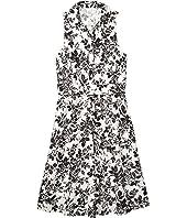Sleeveless Shirtdress with Waist Tie