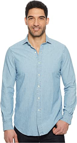 Chambray Long Sleeve Sport Shirt