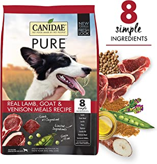 CANIDAE Pure Real Lamb Goat & Venison, Limited Ingredient Grain Free Premium Dry Dog Food
