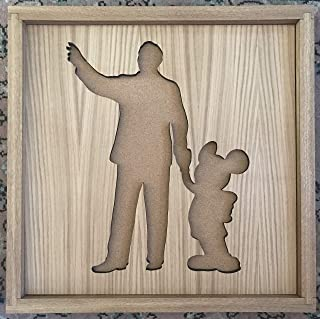 Disney Inspired Pin Display Shadowbox (Walt and Mickey Statue)