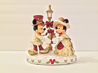DISNEY PARKS MICKEY AND MINNIE MOUSE LIGHT-UP VICTORIAN CHRISTMAS FIGURINE