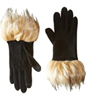 LAUREN Ralph Lauren Long Gloves w/ Faux Coyote Fur