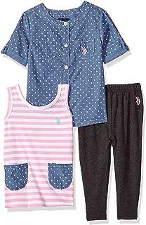 U.S. Polo Assn. Girls' Knit, Fashion Top and Pant Set