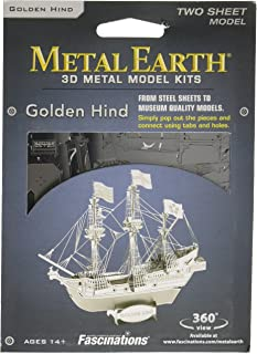 Metal Earth Golden Hind Model