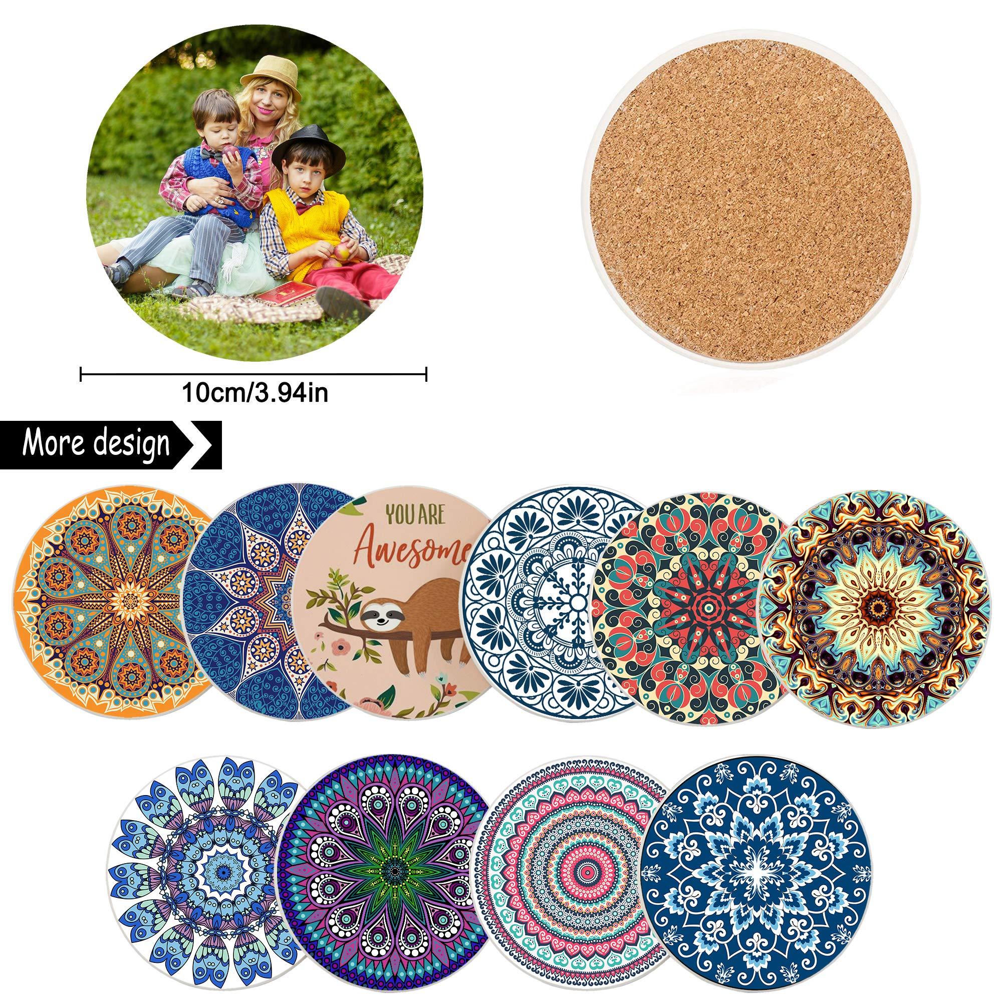 Handmade Tile Resin Coasters Set of 4 Customized Drink Coasters Misfits