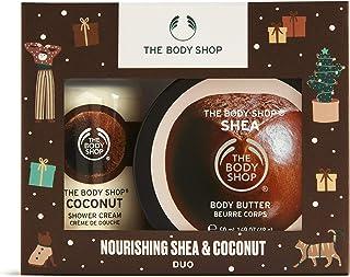 The Body Shop Nourishing Shea and Coconut Duo- 2pc Treat Gift Set, Includes Nourishing Body Care Treats For Dry Skin