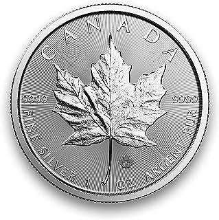 Maple Leaf Canadiense De 1 Onza De Plata (Emisión 2019)
