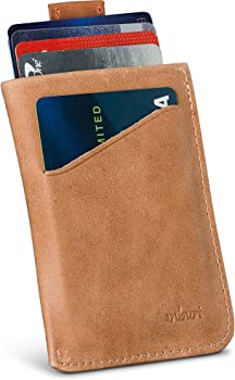 Anburi Genuine Leather Card Sleeve Wallet